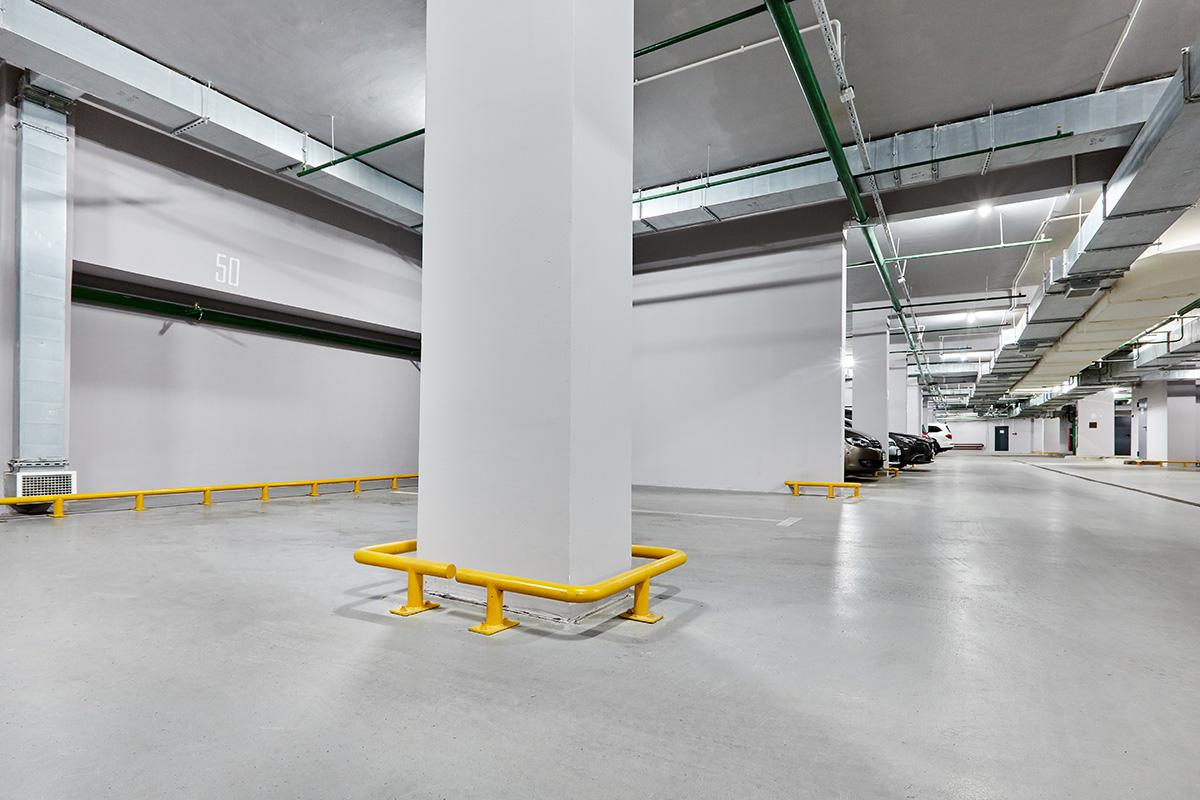 Покрытие в паркинге